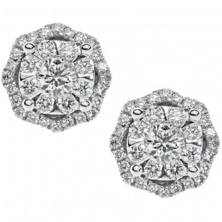 Orecchini Comete ottagonali con diamanti