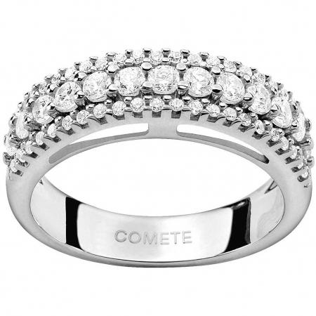 Anello Comete veretta con diamanti