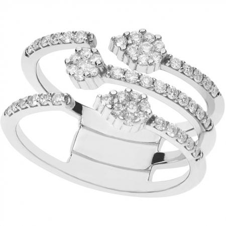 Anello Comete fantasia con diamanti