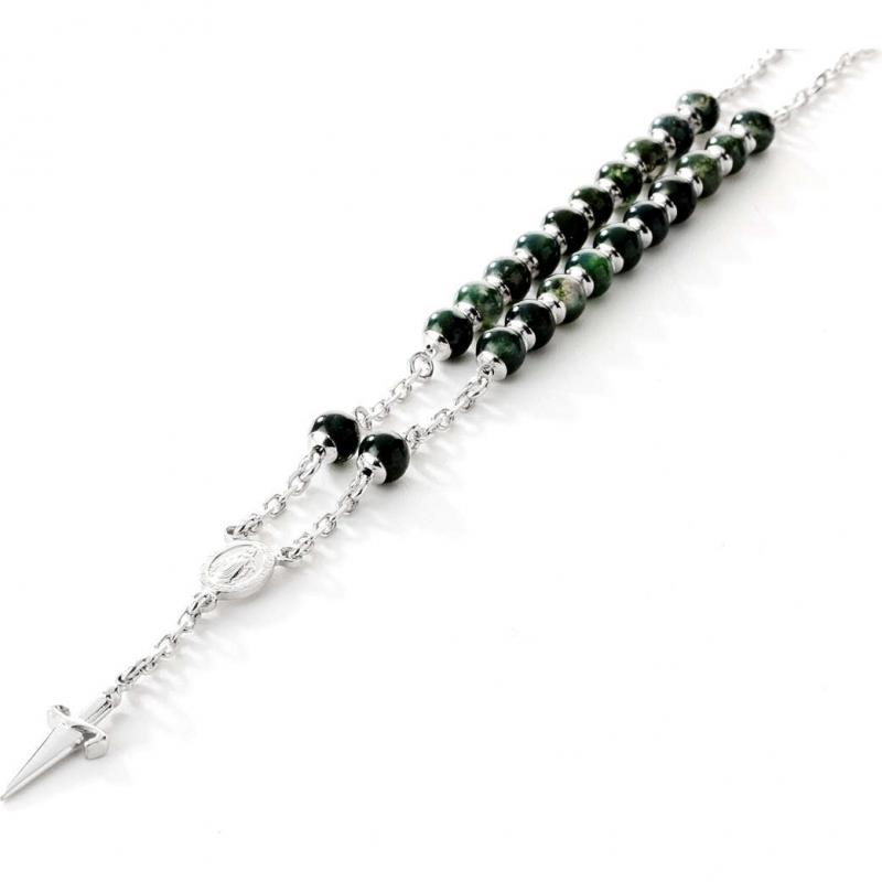 selezione migliore eb4f8 9ed72 Collana uomo Cesare Paciotti Jewels in argento con pietre modello rosario