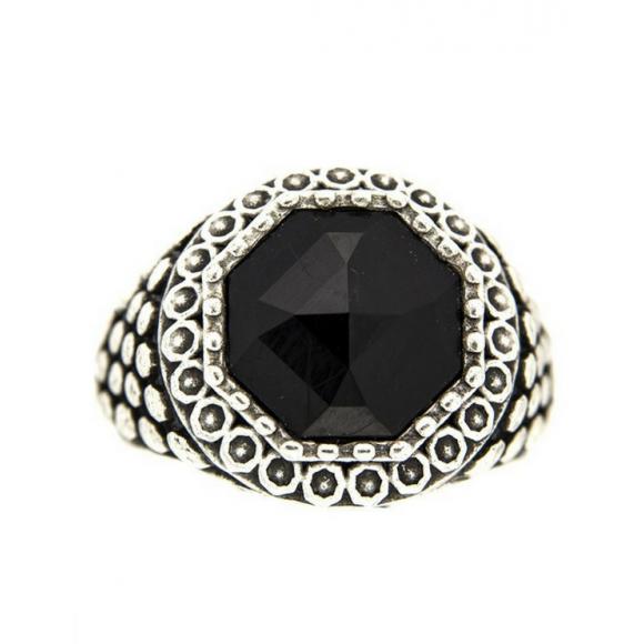 Anello pietro ferrante con pietra nera
