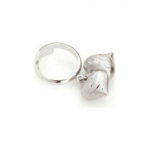 Anello Nomination in acciaio con charm cuori pendenti