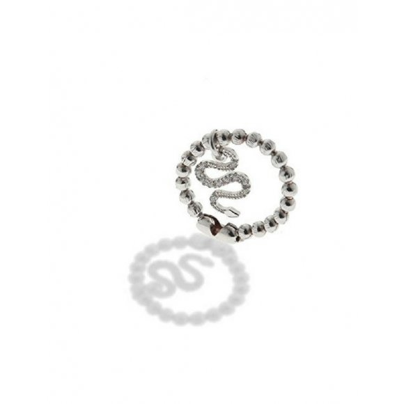Anello Jack & co in argento con serpente