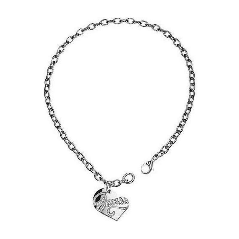 negozio online ab1f4 06b59 Collana Guess in acciaio a catena con piastrina a cuore