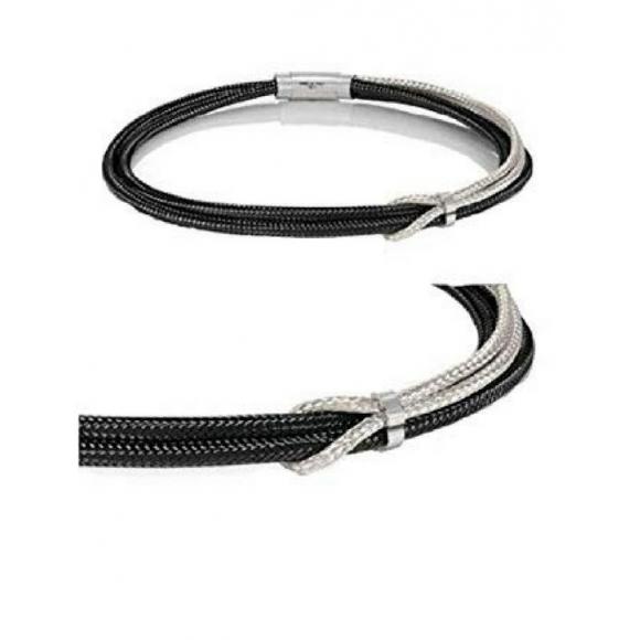 Collana unisex Nomination a girocollo tubolare in acciaio con nodo centrale