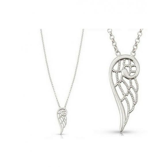 Collana Nomination in argento con ciondolo a forma di ala