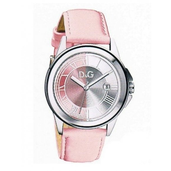 Orologio Dolce e Gabbana con cinturino di pelle rosa e interno cassa madreperlato