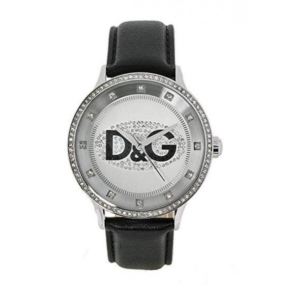 Orologio unisex Dolce e Gabbana con cinturino di pelle e cassa con zirconi