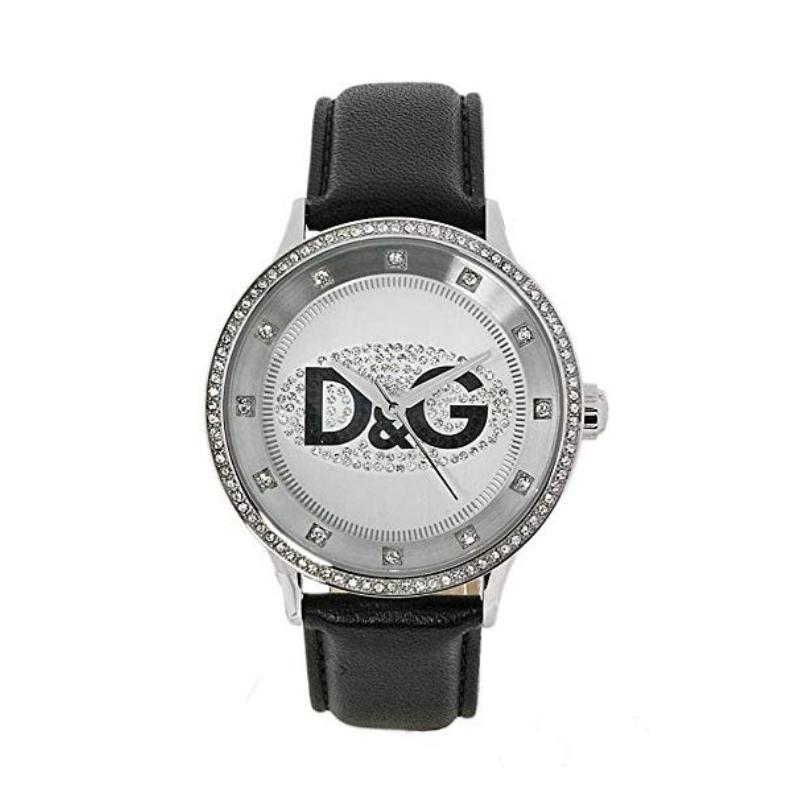 outlet store b6f0e 0feaf Orologio Dolce & Gabbana unisex con cinturino di pelle e cassa con zirconi