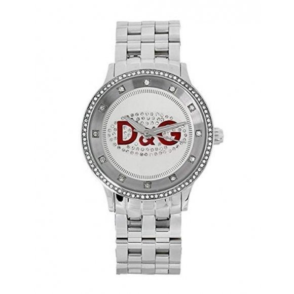 Orologio unisex Dolce e Gabbana con cinturino in acciaio e zirconi incastonati
