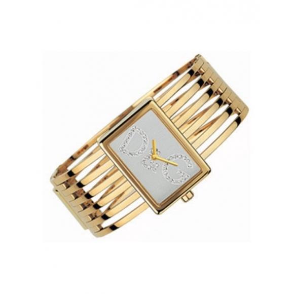 Orologio Dolce & Gabbana rigido colore oro con zirconi incastonati