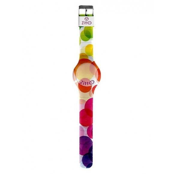 Orologio Zitto digitale cassa 36 mm in silicone con fantasia colorata