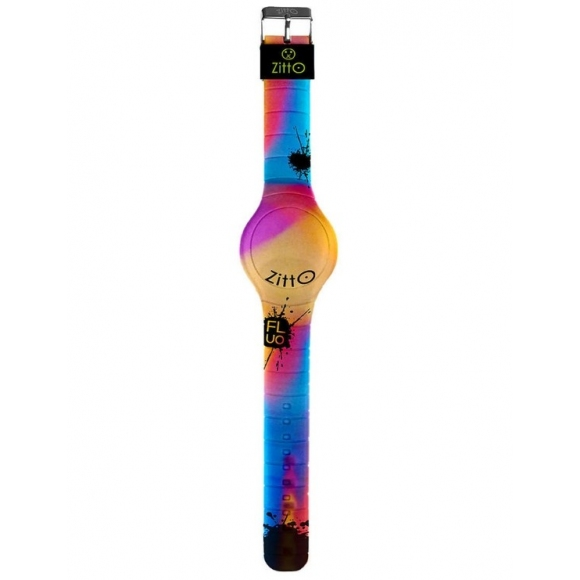 Orologio Zitto digitale cassa 36 mm in silicone fluo multicolor