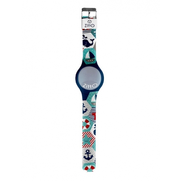 Orologio Zitto digitale cassa 36 mm in silicone con fantasia nautica
