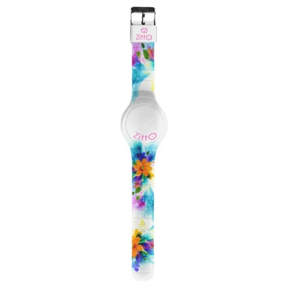 Orologio Zitto digitale cassa 44 mm in silicone a fantasia floreale