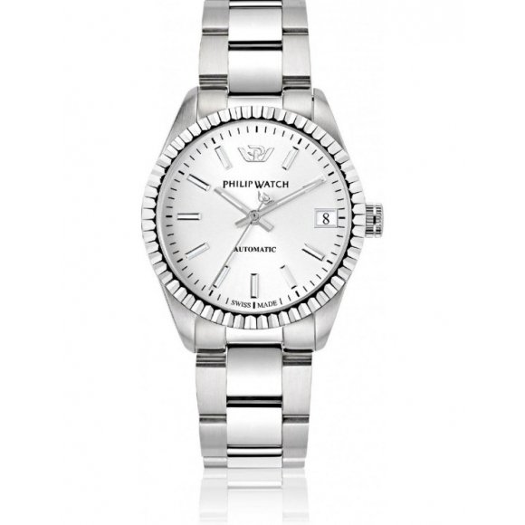 Orologio Uomo Philip Watch automatico in acciaio con quadrante silver e datario 35mm