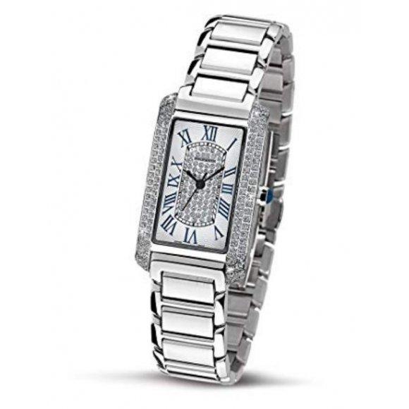 Orologio Philip Watch in acciaio con diamanti esterno cassa e dettagli blu