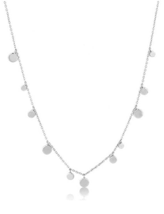Collana Ania Haie a girocollo in argento placcato oro con monetine pendenti
