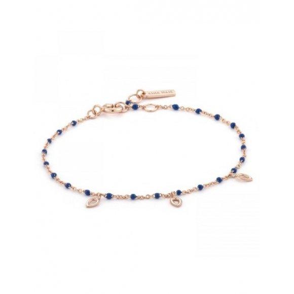 Bracciale Ania Haie in argento placcato oro rosa con tre pendenti a forma di goccia
