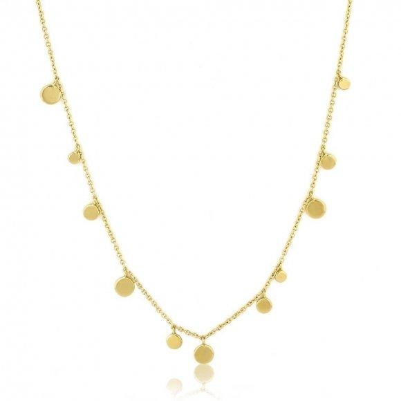 Collana Ania Haie in argento placcato oro giallo 14kt con monetine pendenti