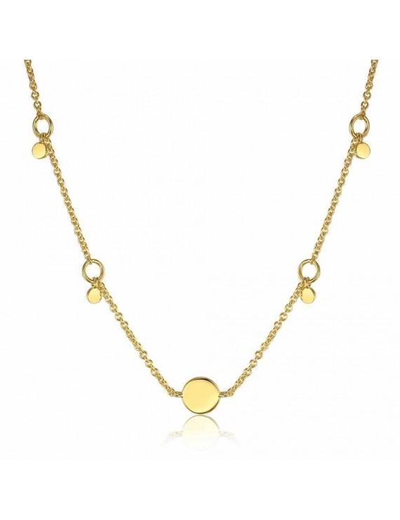 Collana Ania Haie in argento placato oro giallo 14kt con pendenti rotondi